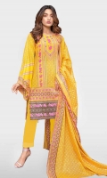 Embroidered Lawn Shirt Printed Lawn Dupatta  Dyed Trouser