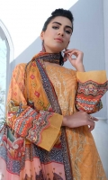 Lawn Digital Print Embroidered Shirt Front1.30 yards< /li> Digital Print Shirt Back and Sleeves2.00 yards Digital Print Bamber Chiffon Dupatta2.65 yards Dyed Cambric Trouser2.65 yards