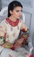 Lawn Digital Print Embroidered Shirt Front1.30 yards Digital Print Shirt Back and Sleeves2.00 yards Digital Print Bamber Chiffon Dupatta2.65 yards Dyed Cambric Trouser2.65 yards