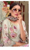 Embroidered Karandi Shirt Printed Chiffon Dupatta + Trouser