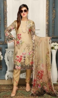 Linen Embroidered Shirt Digital Printed Chiffon Dupatta Dyed Bottom