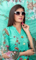 Slub Linen Digital Print Embroidered Shirt with Digital Print Staple Dupatta + Trouser