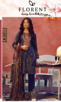 Digital Printed Shirt: 3.00 mtr Trouser: 2.50 mtr Digital Chiffon Dupatta: 2.50 mtr  Add On: Embroidery on Shirt Embroidered Hem Border: 1 mtr Embroidered Lace: 1 mtr