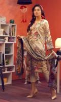 Digital Printed Shirt: 3.00 mtr Trouser: 2.50 mtr Digital Chiffon Dupatta: 2.50 mtr  Add On: Embroidery on shirt Schiffli Lace: 1 mtr Ebroidered Schiffli Lace for Trouser