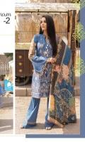 Embroidered Linen Shirt Printed Linen Dupatta Dyed Bottom