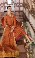 Jacquard Dupatta – 2.5 meters Jacquard Shirt with Embroidered Laces & Neckline on Organza – 5.75 meters Dyed Inner & Trouser – 2.5 meters