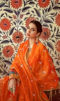 Embroidered Woven Net Dupatta with Zari & Sequence – 2.5 meters Dyed Jacquard Shirt – 3.42 meters Dyed Trouser - 2.5 meters