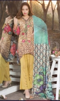Emb Karandi Shirt : 3M Print Karandi Dupatta : 2.5m Plain Trouser : 2.5m.