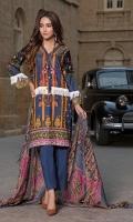 Printed Lawn Shirt 3mtr. Printed Chiffon Dupatta 2.5 mtr Dyed Cotton Cambric Trouser 2.5 mtr