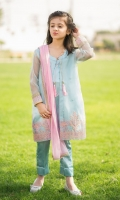 Chiffon Embroidered 3 Piece Suit