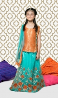 Jamawar Embroidered Girls 3 Piece Suit