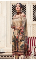 Digitally printed lawn shirt Digitally printed chiffon dupatta Dyed trouser Embroidered organza border for neckline Embroidered organza border for sleeves Embroidered organza border for trouser