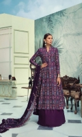 Jacquard Cambric Shirt  With Heavy Embroidered Front Jacquard Cambric With Heavy Embroidered Back Jacquard Cambric Embroidered Sleeves Embroidered Bamber Chiffon Dupatta Dyed Cotton Trouser