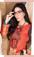 Digital Printed Lawn Shirt With Embroidered Neck Digital Swiss Voil Dupatta Dyed Cambric Trouser