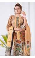 DIGITAL PRINTED LAWN SHIRT 3 METERS DYED CAMBRIC TROUSER 2.5 METERS DIGITAL PRINTED LAWN DUPATTA 2.5 METERS