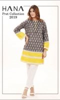 Color Blocked screen printed shirt with lace and pleats on damaan and sleeves