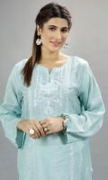 Sea Green embroidered shirt with adda work details.