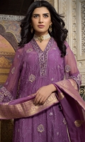 3 Mtr Embroidered Chiffon Shirt 2.5 Mtr Jacquard Dupatta 2.5 Mtr Crepe Trouser 1 Mtr Embroidered Lace for Trouser