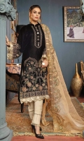 Embroidered Velvet Front Embroidered Velvet Sleeves Embroidered Velvet Back Raw Silk Trousers Embroidered Organza Dupatta