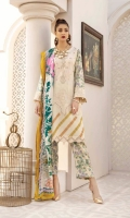 Embroidered Leather Peach Printed Embroidered Shawl Printed Trouser