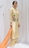 Shirt: : Raw silk  Pants : Raw silk  Dupatta : Organza