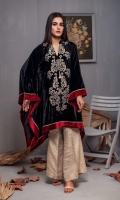 Fabric: Embroidered Velvet Poncho, Banarasi Trouser.