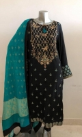 Fabric: Embroidered Raw silk shirt, Two tone banarasi silk dupatta, Raw silk trouser.