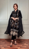 Fabric: Embroidered velvet shirt, velvet trouser, chiffon dupatta.