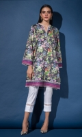 Printed Kurta Full Sleeves Lace Finishing