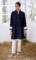 Jacquard Kurta With Lace Full Sleeves  Fancy Buttons