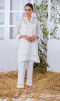 Jacquard Kurta Full Sleeves  Lace Finishing