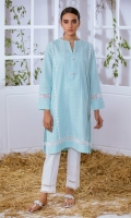 Khaddar Kurta Full Sleeves  Lace Finishing