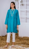 Blue Chikan Kurta Full Sleeves