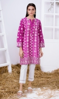 Deep Purple Chikankari Kurta Full Sleeves Chikankari Front & Back