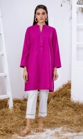 Deep Purple Solid Khaddar Kurta Full Sleeves  Fancy Buttons