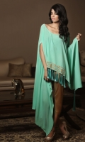 Pure crepe luxury poncho style drape shirt
