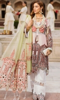DIGITAL PRINTED LAWN SHIRT : 3.15 MTR PRINTED CAMBRIC TROUSER : 2.5 MTR ROCKET BRASO EMB DUPATTA : 2.5 MTR ACCESSORIES LACE : 1 MTR BODICE : 2 PCS