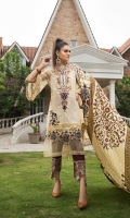 EMB PRINTED LAWN SHIRT : 3 MTR DYED TROUSER : 2.5 MTR  PRINTED LAWN DUPATTA : 2.5 MTR ACCESSORIES LACE : 1 PC