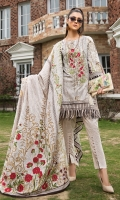 EMB PRINTED LAWN SHIRT : 3 MTR PRINTED TROUSER : 2.5 MTR  PRINTED LAWN DUPATTA : 2.5 MTR ACCESSORIES SLEECES PATCH : 2 PCS