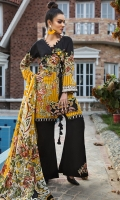 EMB PRINTED LAWN SHIRT : 3 MTR DYED TROUSER : 2.5 MTR  PRINTED LAWN DUPATTA : 2.5 MTR ACCESSORIES SHIRT PATCH : 1 PC TROUSER PATCH : 2 PC