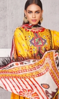CAMBRIC PRINTED SHIRT | 3 MTR DYED CAMBRIC TROUSER | 2.5 MTR CHIFFON PRINTED DUPPATA | 2.5 MTR