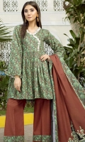 printed khaddar unstitched 3pc suit