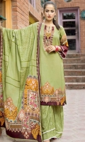 printed linen unstitched 3pc suit