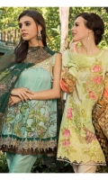 PRINTED EMB LAWN FRONT : 1.25 MTR PRINTED LAWN BACK & SLEEVES : 1.9 MTR PRINTED CAMBRIC TROUSER : 2.5 MTR PRINTED BROSHA DUPATTA : 2.5 MTR ACCESSORIES MOTIF : 1 PC
