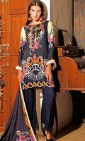 Printed Linen Unstitched 3 Piece Suit