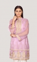 EMB ORGANZA SHIRT WITH SLIP