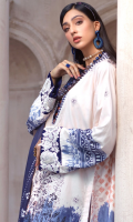 DIGITAL PRINTED LINEN SHIRT: 3MTR DIGITAL PRINTED LINEN DUPATTA: 2.5MTR DYED LINEN TROUSER: 2.5MTR