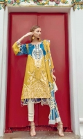 Embroidered Linen Unstitched 2 Piece Suit