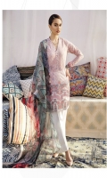Shirt Front Back & Sleeves: Digital Printed Lawn Shirt Back & Sleeves: Digital Printed Lawn Dupatta: Digital Printed Chiffon  Neck Lace: Organza Embroidered  Daman Lace: Organza Embroidered Trouser: Dyed...