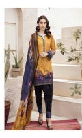 Shirt Front: Digital Printed Embroidered Lawn Shirt Back & Sleeves: Digital Printed Lawn Dupatta: Digital Printed Chiffon  Neck Lace: Organza Embroidered Trouser: Dyed Cambric  Trouser Lace: Organza Embroide...